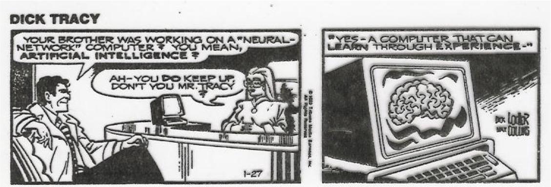 Dick Tracy neural network cartoon